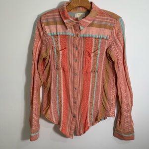 Anthropologie Maeve boho blouse button down
